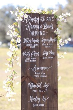 This sign makes a beautiful alternative to a paper ceremony program. By The Paper Walrus. | http://emmalinebride.com/ceremony/ceremony-accessories-weddings/