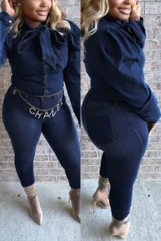 Fashion Wild Long Sleeve Blue Denim Coats African Wear Dresses, Fashion Prints, Style Fashion, Denim Coat, Friends Fashion, Pattern Fashion, Sleeve Styles, Blue Denim, Skinny Jeans