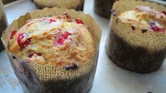 Cranberry cornmeal muffins, finally with fresh cranberries!