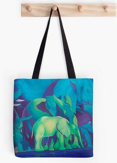 Tatyana Binovska Art Shop: Blue dream for Elephant lovers! Blue Dream, Oil On Canvas, Elephant, Reusable Tote Bags, Lovers, Shop, Art, Art Background, Painted Canvas