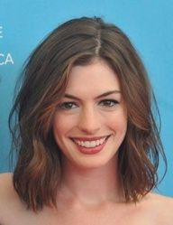 Anne Hathaway - Love this hairstyle!  In-between style? Maybe with a few layers...