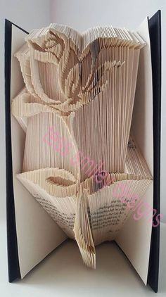 Free folded book patterns yahoo image search results book art elegant rose book folding pattern only 300 pages bookart book folding art pronofoot35fo Choice Image