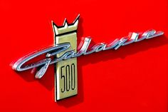 Ford Galaxie 500, nice word mark.