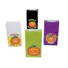Check this out on our store  12 Let His Light Shine Christian Pumpkin Treat Bags Check it out here! [product-url