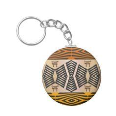 #stylish - #ethnic african tribal pattern keychain