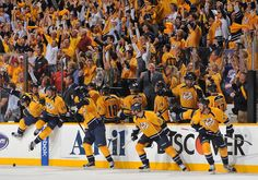 Amazing Fans!! Go Predators! Great Win of the Red Wings!
