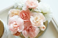 Have a great weekend! Peach Blush, Carnations, Greenery, This Is Us, Rose, Flowers, Plants, Blog, Pictures