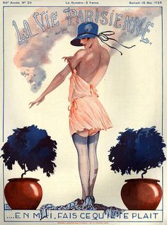 "hoodoothatvoodoo: "" Illustration by Georges Leonnec For La Vie Parisienne May 1926 """