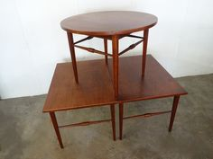 THREE Danish ROSEWOOD End TABLES by SelectModern on Etsy https://www.etsy.com/listing/252693232/three-danish-rosewood-end-tables