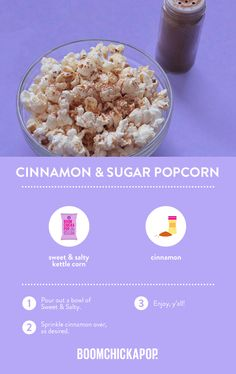 Ready-To-Eat Popcorn - Boomchickapop Healthy Popcorn, Popcorn Recipes, Sweets Recipes, Just Desserts, Popcorn Bags, Pop Popcorn, Cinnamon Sugar Popcorn, Dairy Free, Gluten Free