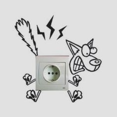 Electricuted funny dog light switch decal home decor Wall Stickers Dogs, Wall Decals, Wall Art, Sticker Mural, Vinyl Decals, Creative Walls, Creative Home, Wall Painting Decor, Wallpaper Stickers