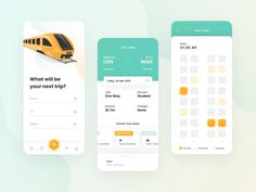 Seat Reservation App designed by Paulina Majkowska for Setapp. Connect with them on Dribbble; Flat Web Design, App Ui Design, Mobile App Design, User Interface Design, Dashboard Design, Design Design, Design Ideas, Graphic Design, Bus App