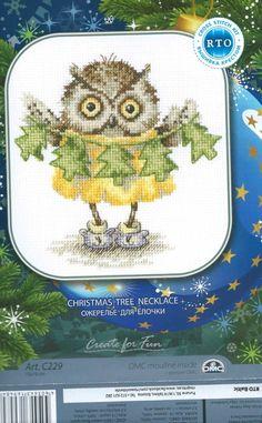 View album on Yandex. Cross Stitch Owl, Cross Stitch Animals, Counted Cross Stitch Kits, Cross Stitching, Cross Stitch Patterns, Christmas Tree Necklace, Christmas Cross, Everything Cross Stitch, Owl Pictures