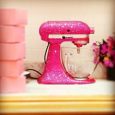 Blinged out pink Georgetown Cupcake Kitchenaid Mixer