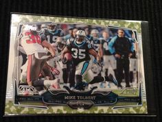 2014 TOPPS FOOTBALL #170 MIKE TOLBERT *MILITARY CAMO #236/399 MINT FROM PACK #PANTHERS