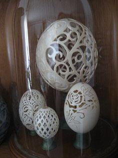 Easter Eggshell Sculpture