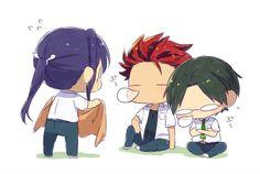 Comedy Anime, Ensemble Stars, Ship Art, Akatsuki, My Idol, Chibi, Kawaii, Fan Art, Cartoon