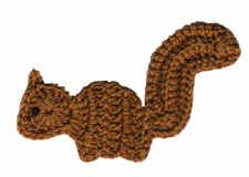 'Lil Squirrel Fridgie  free crochet pattern