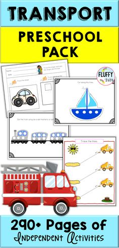 Packed with all sorts of transportation, this Transportation Theme Preschool MEGA BUNDLE is great for your Transportation Week activity either in a classroom or at home. This MEGA BUNDLE is perfect for independent activities, making it great for at home learning as well! Preschool Centers, Kindergarten Fun, Preschool Class, Preschool Learning Activities, Preschool Printables, Summer Activities For Kids, Transportation Theme Preschool, Motor Skills Activities, Fine Motor