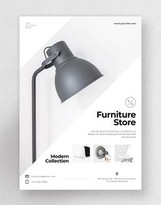 Furniture Flyer Template PSD - Download Graphic Design Flyer, Brochure Design, Graphic Design Inspiration, Flyer Design, Product Design Poster, Page Layout Design, Web Design, Cookbook Cover Design, Creation Flyer