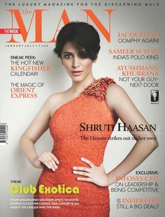 Shruti Hassan on The Cover of The Man Magazine – January 2013.
