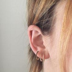 Black Onyx Kennedy Hoop Earrings
