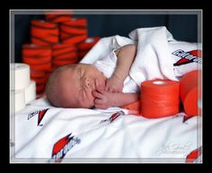 Athletic trainer baby picture....this will be Audrey's future baby's newborn pic.
