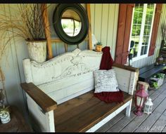 Finding a new use for an old headboard