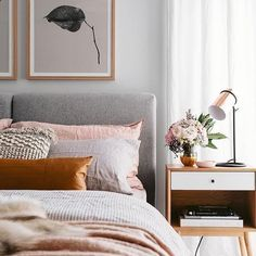 modern bedroom with blushing and orange accents - ., modern bedroom with blushing and orange accents - # blushing Cozy Bedroom, Home Decor Bedroom, Bedroom Ideas, Bedroom Designs, Master Bedroom, Blush Bedroom, Bedroom Orange, Bedroom Furniture, King Bedroom