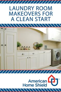 Laundry room makeovers for a clean start! Looking for ways to up your laundry room game? Look no further! Check out these tips and see how you can enter for a chance to win a $500 gift card in the American Home Shield® Dream Upgrade Sweepstakes to take your laundry room to the next level. https://ahs.com/dreamupgrade  #DreamUpgradeSweepstakes