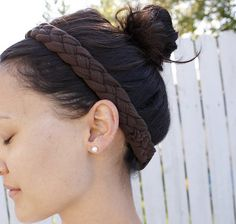 Braided hair band from tshirt