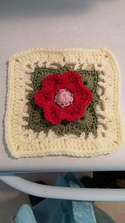Bloom 6 inch square tested for spincushions on Ravelry.