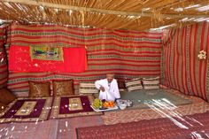 My perfect day in Oman would include countless dates with coffee, but there is just so much more on the food and drink menu to explore. Let me take you for a little sensory adventure all about Omani gastronomy. Bedouin Tent, East Africa, Bliss, Asia, Lunch, Food, Decks, Eat Lunch, Essen