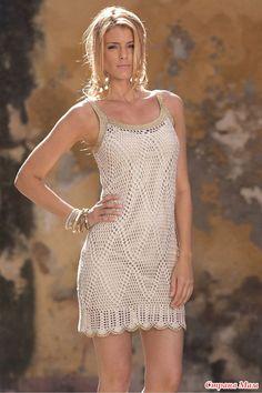 Курортная геометрия-платье крючком