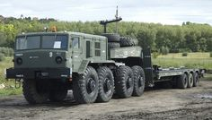 This Soviet-era military transporter has the diesel engine from the tank. Army Vehicles, Armored Vehicles, Diesel Trucks For Sale, Truck Transport, Armored Truck, Tank Destroyer, Heavy Truck, Transporter, Panzer