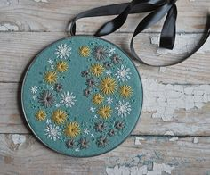 Hoop Art Hand Embroidered  by lovemaude