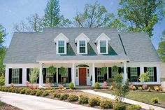 Southern traditional country house.  Plan 17-2068