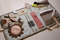 La Tertulia del Patch: Nuevo kit a la venta en La Tertulia: El costurero para aplicación Sewing Caddy, Sewing Kit, Love Sewing, Quilted Gifts, Quilted Bag, Sewing Crafts, Sewing Projects, Japanese Patchwork, Embroidery Tools