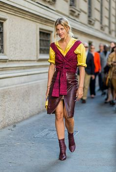 Burgundy Street Style #leather @lucearow