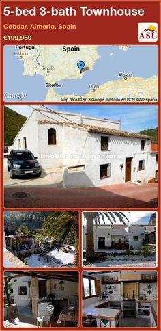 5-bed 3-bath Townhouse in Cobdar, Almeria, Spain ►€199,950 #PropertyForSaleInSpain
