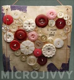 Old Button Craft: Miss You Buttons