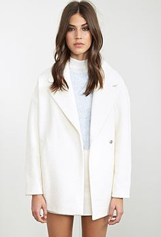 Unstructured Bouclé Topcoat | Forever 21 - 2055879349