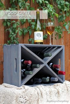 You can do so many things with wood crates, the possibilities are truly endless.   Even better they are not expensive.  I decided to make a wine rack to display…