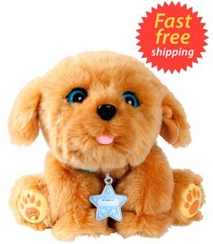Little Live Pets My Dream Puppy Snuggles Interactive Fluffy Dog Toy 35+ Sounds #Moose
