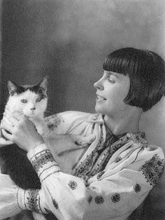 Wanda Gag and her cat