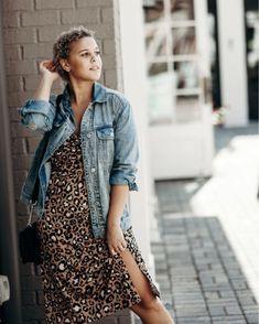 ab10331389bfc Shop ASOS DESIGN Petite cowl front midi slip dress in leopard print at ASOS.