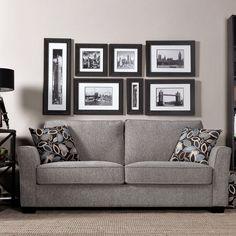 Portfolio Tara Sandy Gray Chenille Sofa with Brown Modern Leaf Accent Pillows Living Room Furniture, Living Room Decor, Living Rooms, Living Room Styles, Gray Sofa, Accent Pillows, Red Pillows, Home Furnishings, Love Seat