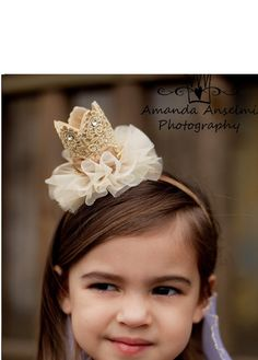 Birthday Baby Crown Headband/Princess by APPLEMINTHOUSE on Etsy