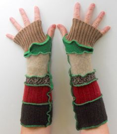 Recycled Sweater Arm Warmers