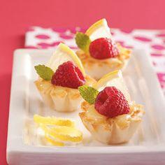 Lemon Curd Tartlets Recipe for Ladies Tea.